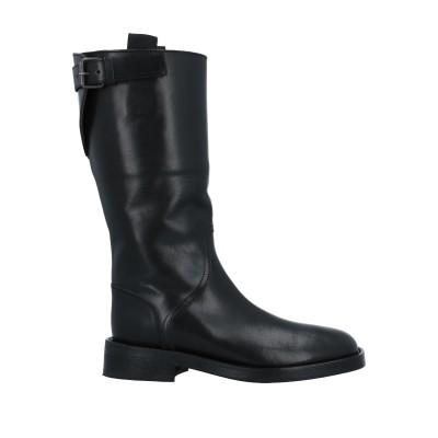 アン ドゥムルメステール ANN DEMEULEMEESTER ブーツ ブラック 40 牛革(カーフ) ブーツ