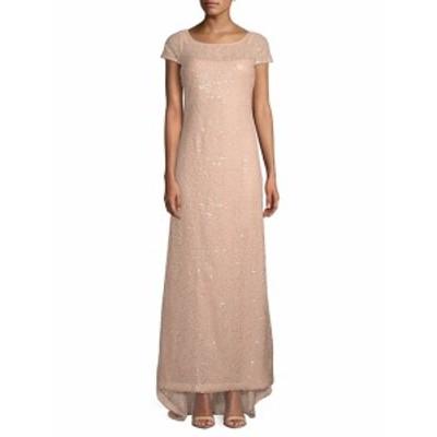 カルバンクライン レディース ワンピース Sequin Cap-Sleeve Gown