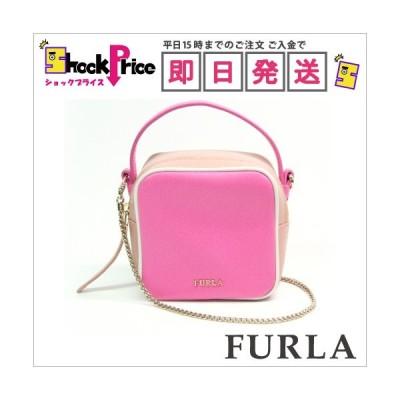 フルラ FURLA ヨーヨーミニ クロスボディバッグ ピンク系 ショルダーバッグ チェーンストラップ ハンドバッグ おしゃれ ミニサイズ バイカラ—