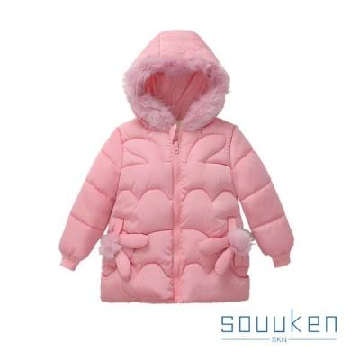ダウンコート 女の子 子供用 秋冬 ダウンアウター 中綿コート 防寒 防風 保温 超軽量 可愛い おしゃれ 通学