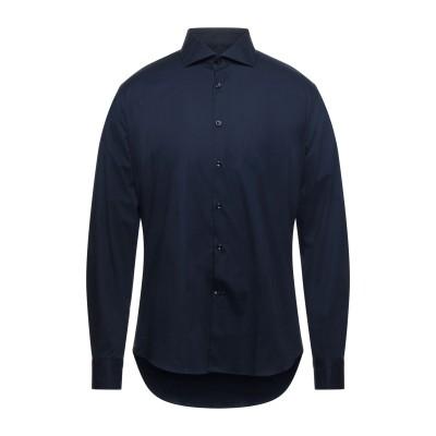 EDIZIONI LIMONAIA シャツ ダークブルー 42 コットン 97% / ポリウレタン 3% シャツ
