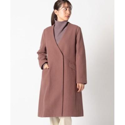MEW'S REFINED CLOTHES / 5カラーVネックノーカラーコート WOMEN ジャケット/アウター > ステンカラーコート