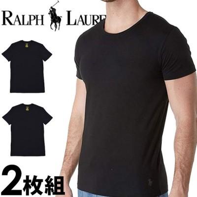 ポロ ラルフローレン メンズ コットン モダール クルーネック 半袖 Tシャツ 2枚セット ブラック POLO RALPH LAUREN lkcnp264l