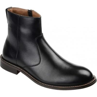 トーマスアンドバイン Thomas & Vine メンズ ブーツ ショートブーツ シューズ・靴 Faust Plain Toe Ankle Boot Black