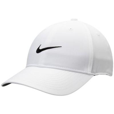 ナイキ メンズ 帽子 アクセサリー Nike Golf L91 Tech Performance Adjustable Hat White