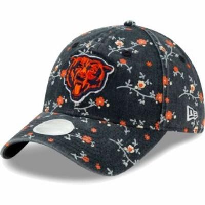 ニューエラ New Era レディース キャップ 帽子 Chicago Bears Navy Blossom Adjustable Hat