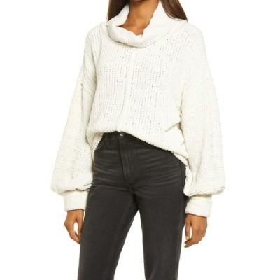 フリーピープル レディース ニット&セーター アウター Be Yours Cowl Neck Sweater VANILLA BEAN
