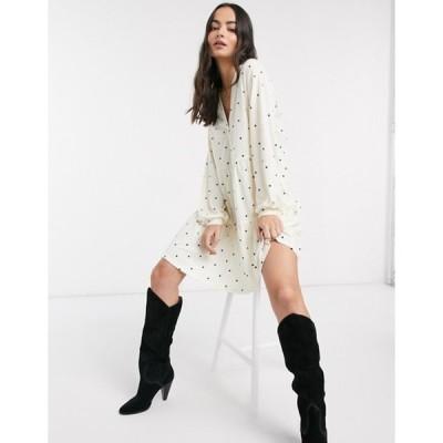 ワイエーエス レディース ワンピース トップス Y.A.S Justine long sleeve tiered mini smock dress