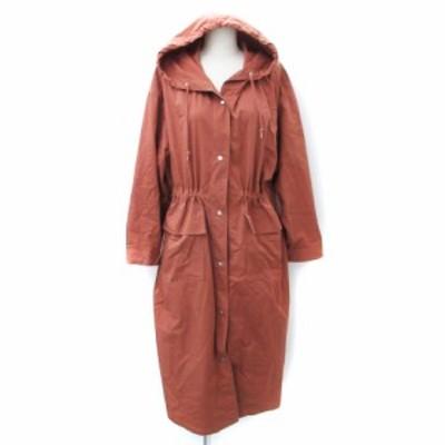 【中古】チャオパニック CIAOPANIC コート スプリング 薄手 ロング丈 フード付き F 茶 ブラウン /FF1 レディース