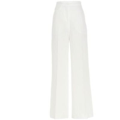 SPORTMAX/スポーツマックス White Clarion trousers レディース 春夏2021 2131041160010258001 ju