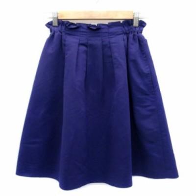【中古】フレディ&グロスター FREDY&GLOSTER スカート フレア ひざ丈 36 紫 パープル /HO28 レディース