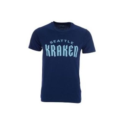 マジェスティック メンズ Tシャツ トップス Seattle Kraken Men's Prime Wordmark T-Shirt Navy