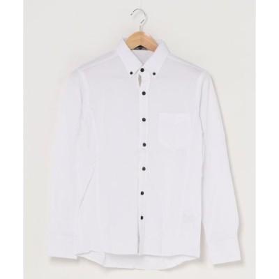 シャツ ブラウス 【garsonwave】COOLMAXストレッチボタンダウンシャツ