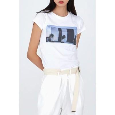 simplymood レディース ショートスリーブ Citizen printing T-Shirt