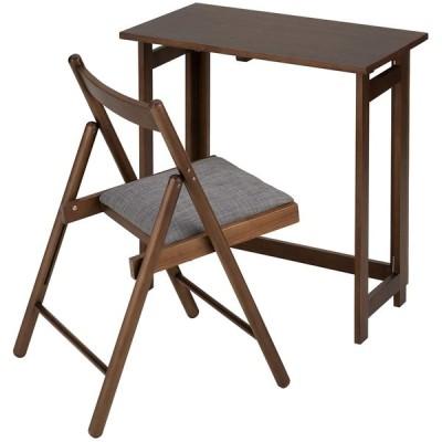 武田コーポレーション 木製 折りたたみ テーブルセット ウォールナット S0-MOTS70WAL