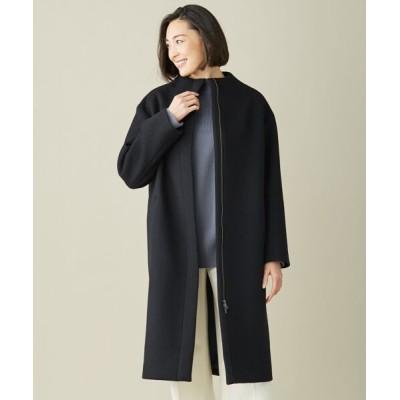 ICB/アイシービー 【一部店舗限定】Melton スタンドカラーコート ブラック系 00