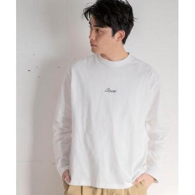 coen / コーエンロゴ刺繍ロングスリーブTシャツ MEN トップス > Tシャツ/カットソー