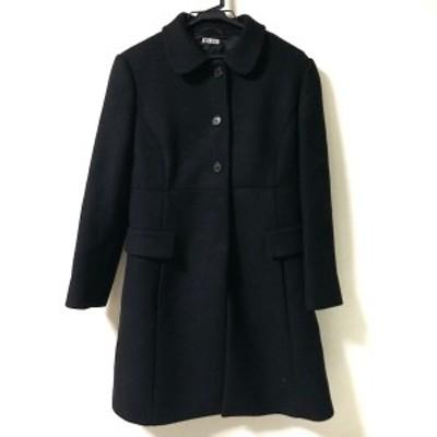 ミュウミュウ miumiu コート サイズ44 L レディース 美品 - 黒 長袖/ロング丈/冬【中古】20210323