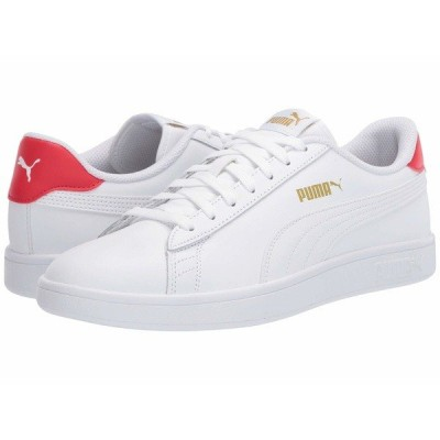 プーマ スニーカー シューズ メンズ Smash V2 L Puma White/High Risk Red/Puma Team Gold