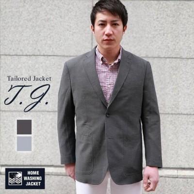 テーラードジャケット メンズ ビジネスジャケット M L XL 千鳥柄 麻入り  PETER LUGER(ピーター・ルーガー) チャコールグレイ グレー