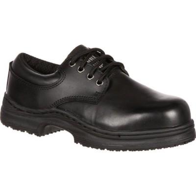 スリップグリップ SlipGrips メンズ 革靴・ビジネスシューズ シューズ・靴 Steel Toe Slip-Resistant Oxford black