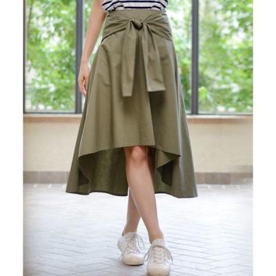 スカート 2WAYリボンベルトドレープスカート
