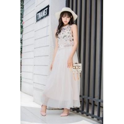 ドレス ワンピース スカート スパンコール ビーズ ベスト フェアリー スカート ツーピース デート 20代
