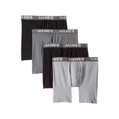 ヘインズ メンズ ボクサーパンツ アンダーウェア Platinum Comfortflex Fit Boxer Briefs
