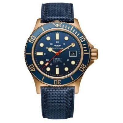 腕時計 グライシン メンズ Glycine Men's GL0174 Combat Sub 42 Bronze Automatic 42mm Blue Dial Watch