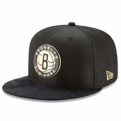 New Era ニュー エラ スポーツ用品  New Era Brooklyn Nets Black/Gold NBA On-Court 59FIFTY Fitted Hat