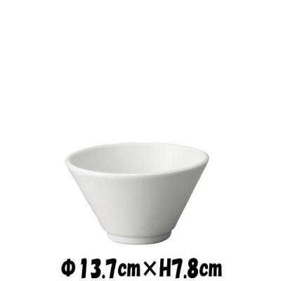 切立深口4.5丼 白 どんぶり丼 陶器磁器の食器 おしゃれな業務用和食器 お皿中皿深皿