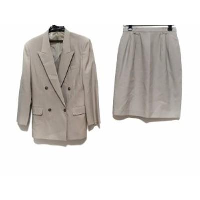 ニューヨーカー NEW YORKER スカートスーツ サイズ11AR M レディース ベージュ 肩パッド/ダブル【中古】20200517