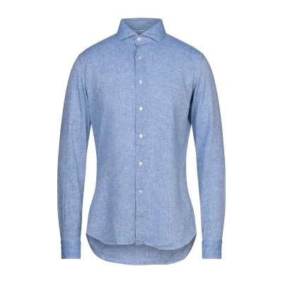 UNGARO シャツ ブルー 38 リネン 55% / コットン 45% シャツ