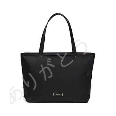 新品 Lipault - Business Avenue Laptop Tote Bag - Top Handle Shoulder Handbag for Women - Jet Black