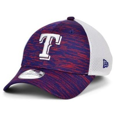 ニューエラ メンズ 帽子 アクセサリー Texas Rangers English Knit Neo 39THIRTY Cap RoyalBlue/White