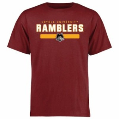Fanatics Branded ファナティクス ブランド スポーツ用品  Loyola Chicago Ramblers Maroon Team Strong T-Shirt