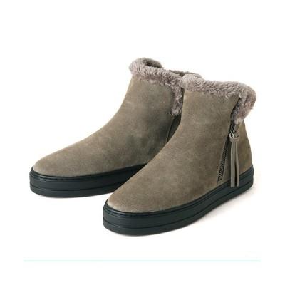 ANDEX shoes product / coca / コカ サイドファスナー ボア ショートブーツ 419016 WOMEN シューズ > ブーツ