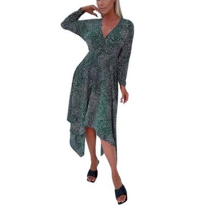 アックスパリ レディース ワンピース トップス Women's Spotty Handkerchief Midi Dress