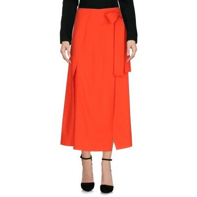 セドリック シャルリエ CEDRIC CHARLIER 7分丈スカート レッド 38 バージンウール 97% / 指定外繊維 3% 7分丈スカート
