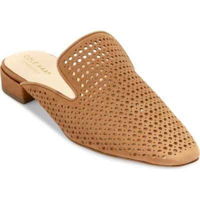 コールハーン COLE HAAN レディース ローファー・オックスフォード シューズ・靴 Paula Perforated Loafer Mule British Tan Nubuck Leather
