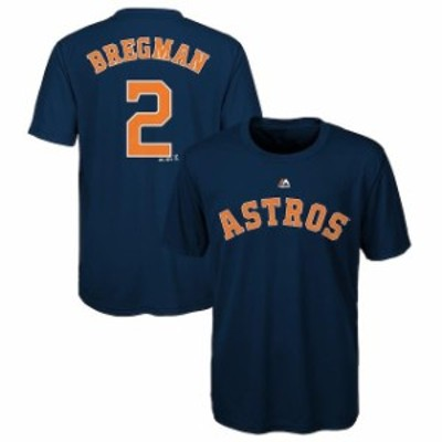 Majestic マジェスティック スポーツ用品  Majestic Alex Bregman Houston Astros Youth Navy Player Name and Number T-S
