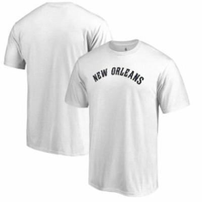 Fanatics Branded ファナティクス ブランド スポーツ用品  Fanatics Branded New Orleans Pelicans White Primary Wordmark T-Shirt