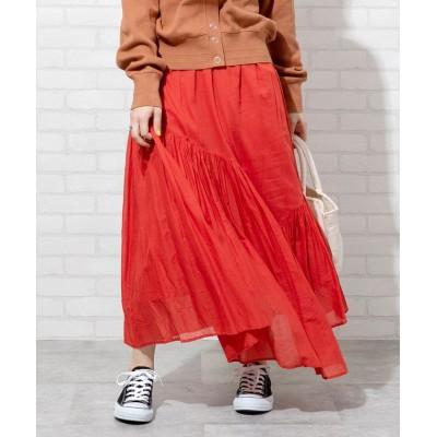 【コーエン】 アシンメトリーカラースカート(ロングスカート/マキシスカート)# レディース BRICK FREE coen