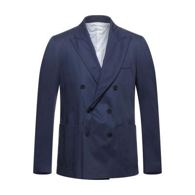MAISON FLÂNEUR テーラードジャケット ダークブルー 48 コットン 100% テーラードジャケット