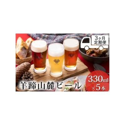 ふるさと納税 ◆3ヶ月連続定期便◆羊蹄山麓ビール5種類セット(330ml×5本) 北海道倶知安町