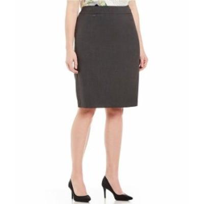 カルバンクライン レディース スカート ボトムス Plus Pencil Skirt Charcoal