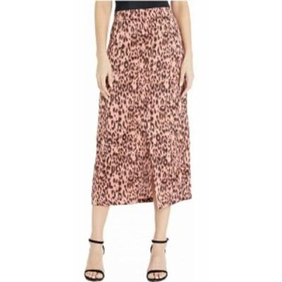 ジャック バイ ビービーダコタ Jack by BB Dakota レディース ひざ丈スカート スカート Printed Leopard Reverse Crepon Midi Skirt Rose