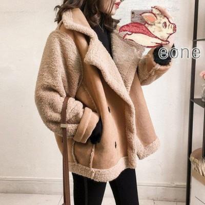 コート レディース アウター ボア ブルゾン 着痩せ 秋 ジャケット 40代 大きいサイズ 綿 結婚式 通勤 ゆったり きれいめ