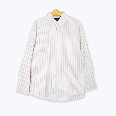 カバロン CAVALLON ストライプ柄 長袖シャツ メンズ XLサイズ相当 レッド/ホワイト ユーズド 古着 s190917-13