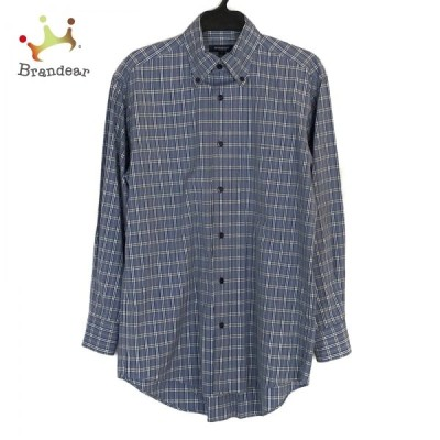 バーバリーロンドン 長袖シャツ サイズS メンズ 美品 ダークグレー×黒×マルチ チェック柄 新着 20210313